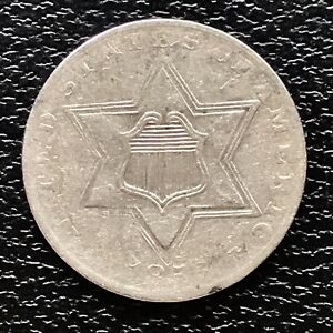1856 Three Cent Piece Silver Trime 3c High Grade XF #17469