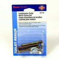 toilet bolt screw set holds toilet bowl in place universal mounting kit Plumbing Supplies