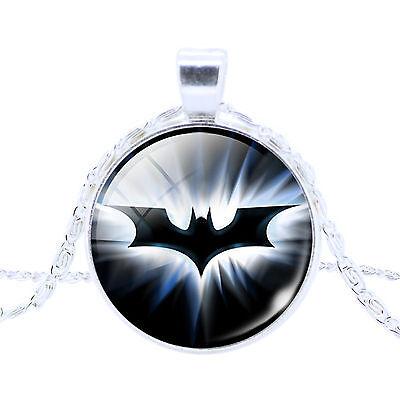 HOT Fashion Superman Spider Batman Pattern Glass Dome Cabochon Pendant Necklace