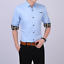 Business-Office-Work-Men-Casual-Stylish-Slim-Fit-Short-Sleeve-Shirt-Tops-Blouse thumbnail 1