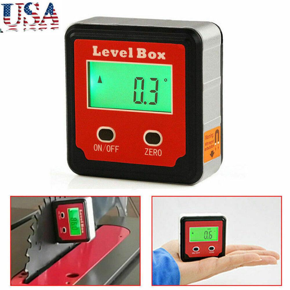 360° Digital Inclinometer Angle Finder Measuring Level Box LCD Display Plastic