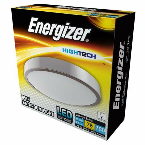 Energizer DEL Encastré Argent Salle de Bain Plafonnier IP44 Rated Zone 1 2 3