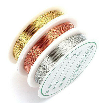 15meters of 0.3mm gold PLATED Beading WIRE jewellery wire DIY wire