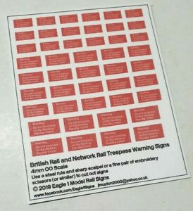 OO Scale British and Network Rail Limited Clearance Checkerboard Sign Set Of 54