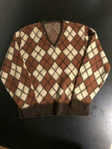 80s 70s 60s vintage Argyle Knit Mohair Cartcobain