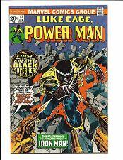 LUKE CAGE, POWER MAN # 17 (IRON MAN APP. FEB 1974), VF