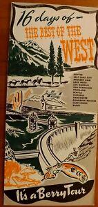 VINTAGE-039-49-BERRY-TOUR-BROCHURE-WEST-CN-amp-W-MOPAC-RR-ROCKIES-CALIFORNIA-US-CANADA