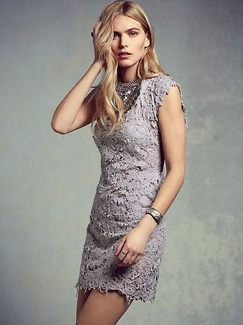 Free People Pe De Chumbo Destroyed Laced Shift Dress Size Small MSRP