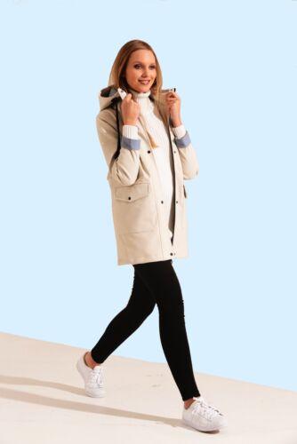 Charcoal Fashion Women/'s Premium Cream Water Resistant Rubber Rain Coat