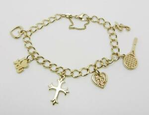 Image Is Loading James Avery Retired 14k Yellow Gold Charm Bracelet