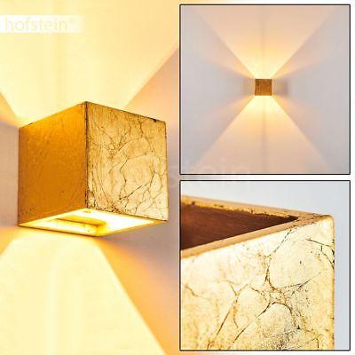 goldfarbener Up Down Strahler Keramik Wand Leuchte Flur Wohn Schlaf Zimmer Lampe