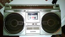 Sanyo M9935K Front Boombox Ghettoblaster Cabinet with 4 Speakers & Cassette Door