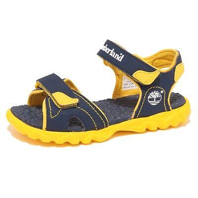 8538P sandalo bimbo TIMBERLAND SPLASHTOWN giallo/blu shoe sandal kid