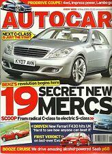 Autocar 10th May 2005, Mercedes, F430, Evo IX, Ascari KZ1, X-type, CLK, CLS 500