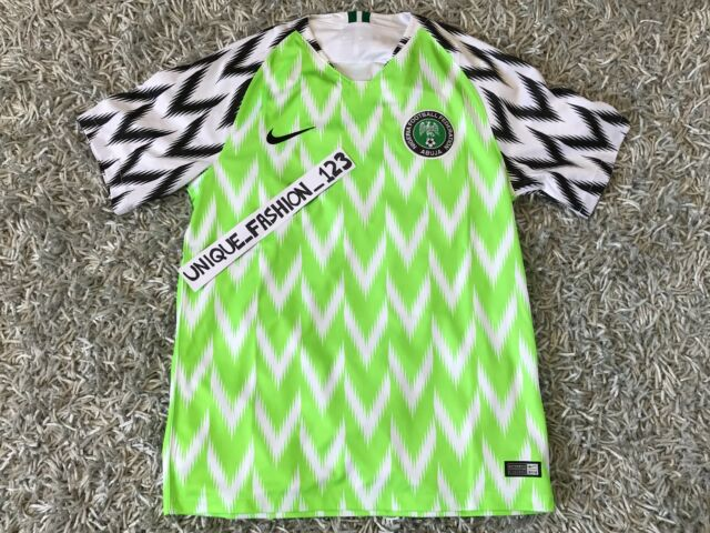 release date 43700 467a7 NIKE NIGERIA WORLD CUP 2018 HOME JERSEY SHIRT S SUPER EAGLES SMALL FOOTBALL  AUTH