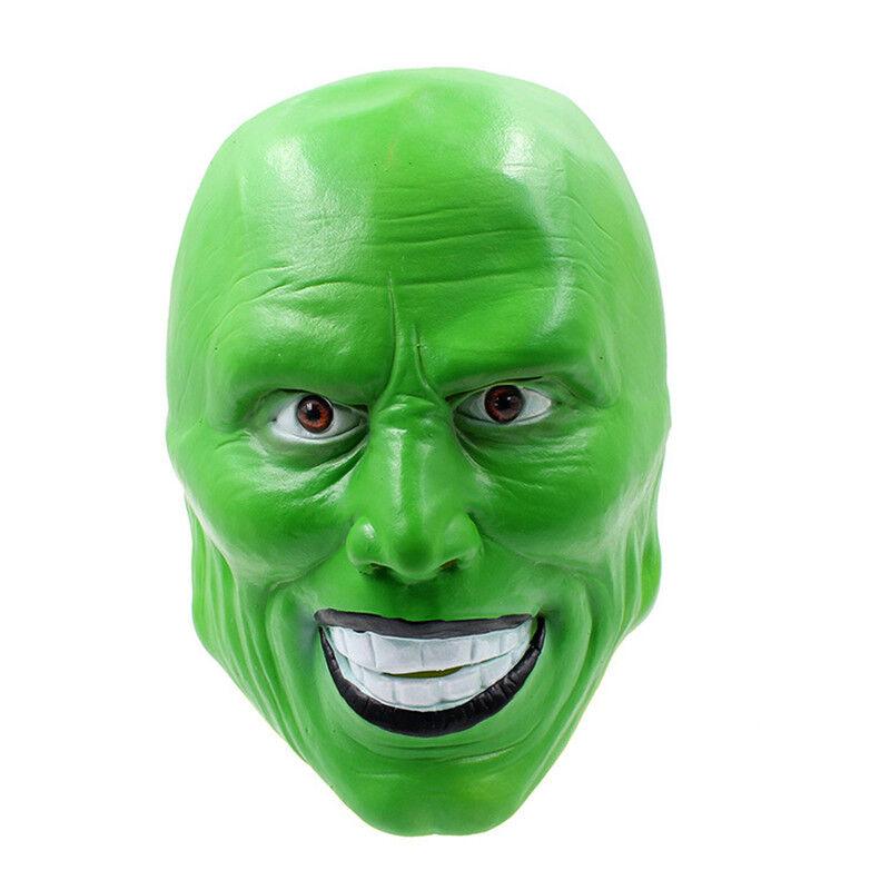 Loki Mask Jim Carrey Film /'The Mask/' Green Costume Fancy Dress Halloween Props