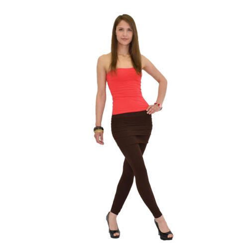 Damen Capri Leggings Leggins Legging Hose mit Minirock Mini Rock  L106