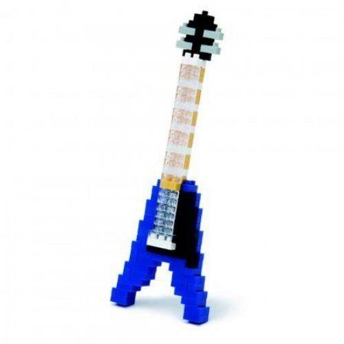 NANO BLOCKS BLUE ELECTRIC ROCK GUITAR MINI BRICKS PUZZLE NANOBLOCK GREAT GIFT