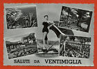 VENTIMIGLIA (IMPERIA), SALUTI CON 4 VEDUTE + RAGAZZA IN COSTUME, ANNI '60 m