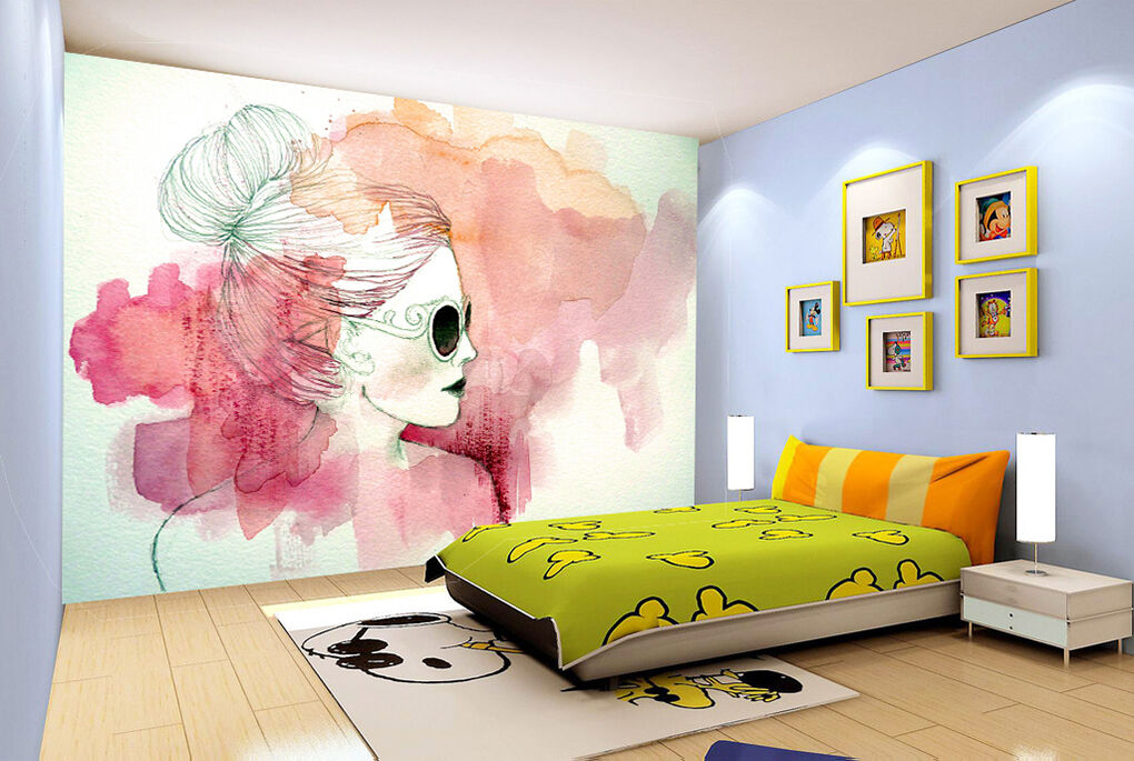 3D Pretty girl 33 Wall Paper Print Wall Decal Deco Indoor Wall Murals