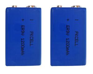 2-x-ER9V-Block-1200mAh-Lithium-Langzeitbatterie-Rauchmelder