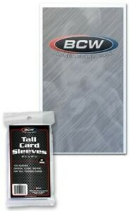 BCW-Tall-Trading-Card-Sleeves-2-5-8-034-x-4-13-16-034-Qty-10-000