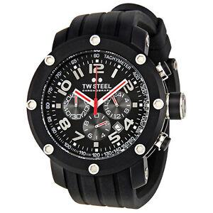 TW-Steel-Grandeur-Tech-Black-Dial-Chronograph-45-MM-Mens-Watch-TW134