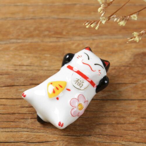 Japanese Chopstick Rest Lucky Cat Spoon Fork Holder Rack Stand Kitchen Flatware
