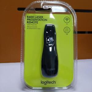 New Professional Wireless Logitech R400 Receiver PPT Presenter Red Laser Pointer