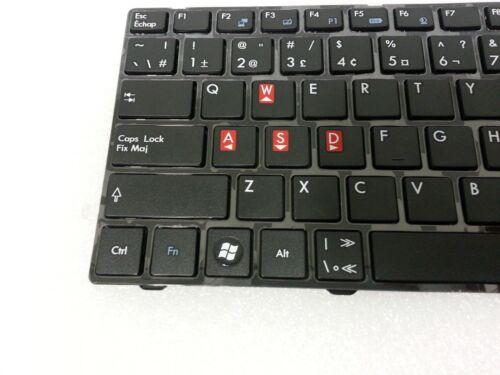 BRAND NEW Genuine MSI Laptop Keyboard  V111922AK3 EF English Canada French