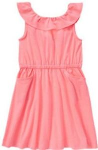 NWT-Gymboree-Girls-Bright-and-Beachy-Neon-Pink-Dress-Size-4-amp-5