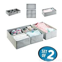 Baby Organizer Clothes Towels 5 Compartments Gray Nursery Drawer Space Fit 2 Set