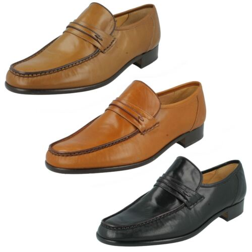 MENS GRENSON LEATHER MOCCASIN STYLE SMART SLIP ON PARTY SHOES ALBANY FIT G£79.99