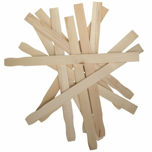 Paint Sticks 12 Inch Paddles Bulk Pack of 100 Sanded Hardwood Stirrers for Wood