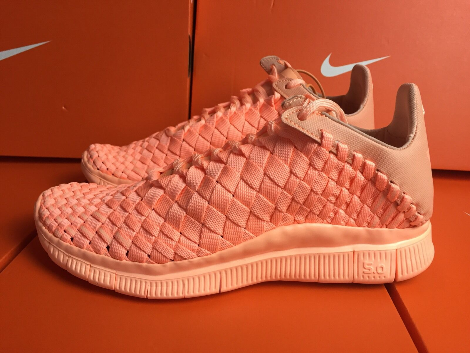 Nike Free Inneva Woven Tech SP Trainers UK 4 EUR 888 36.5 Sunset Orange 705797 888 EUR ef3c3d