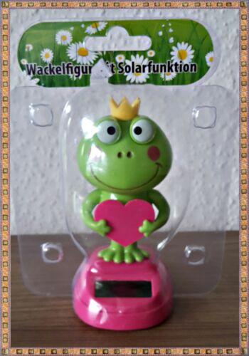 Wackelfigur Froschkönigin mit Solarfunktion