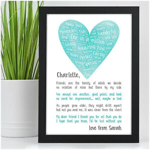 PERSONALISED-Best-Friend-Friendship-Poem-Christmas-Gifts-Friendship-Sign-Present