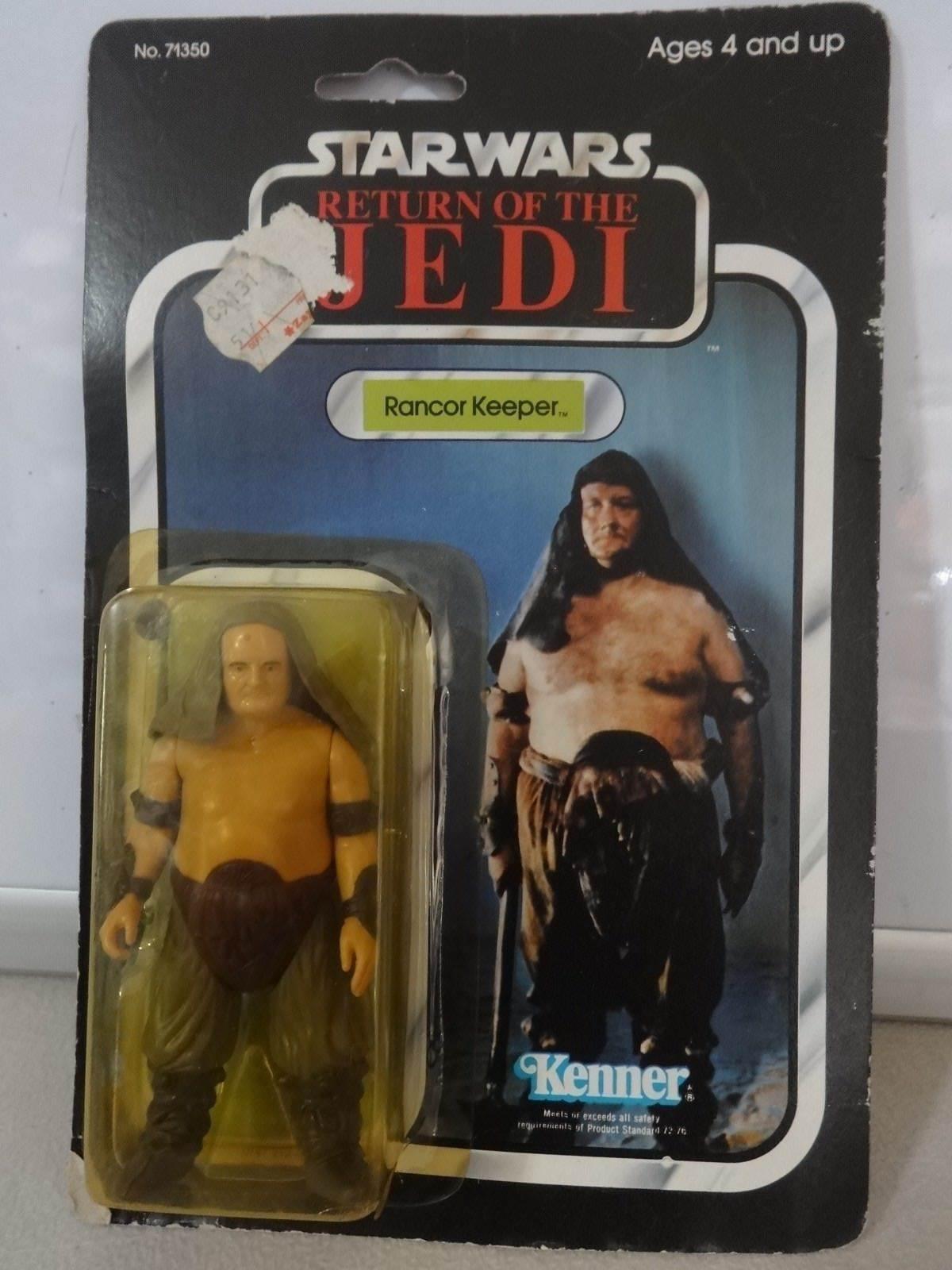 Vintage Star Wars 1983 LE RETOUR DU JEDI Rancor Keeper 77 Retour Moc Carte Rough