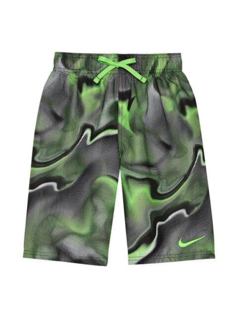 26e425da88 Nike Swim Boys  Breaker 8 Inch Volley Swim Shorts Size 7 Green strike