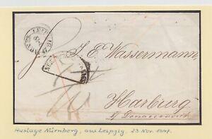 Bayern-1847-Auslagestempel-034-Auslage-NURNBERG-034-aus-Leipzig-bitte-ansehen