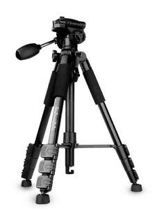 QZSD JD220 Professional Portable Travel Camera Tripod Aluminum Alloy Lightweight