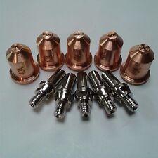 10PC SHIELDED TIP/ELECTRODE SET AHP ALPHACUT 60 PLASMA CUTTER PT-60 TORCH 40 AMP