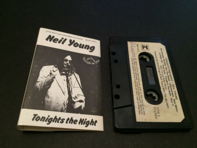NEIL YOUNG TONIGHT'S THE NIGHT AUSTRALIAN CASSETTE TAPE