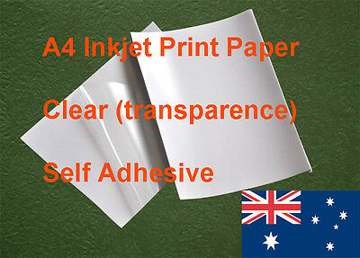 10 X A4 Clear Label Self Adhesive Sticker Inkjet Print Paper and other