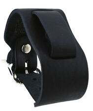 Nemesis THL-K Wide Black Leather Cuff Watch Band
