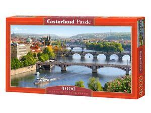 """Castorland Puzzle 4000Pieces Vltava Bridges in Prague 54""""x27"""" Sealed box C400096"""