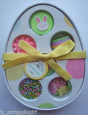 ~EASTER~ Doodlebug Design Inc GOODIE BOX; Spring Pastel Colors, pink green blue