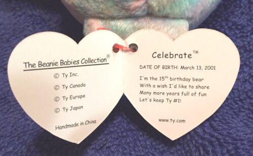 Ty CELEBRATE Beanie Baby /& Beanie Buddy Ty/'s 15th Anniversary MWMT Ships Free