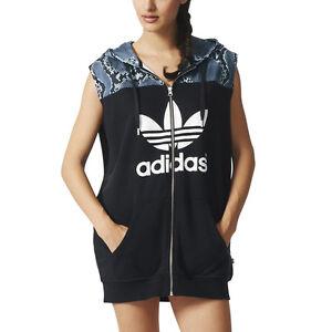 Adidas Women's LA Hooded Dress Black/Snake Hoodie AB2616 NEW!