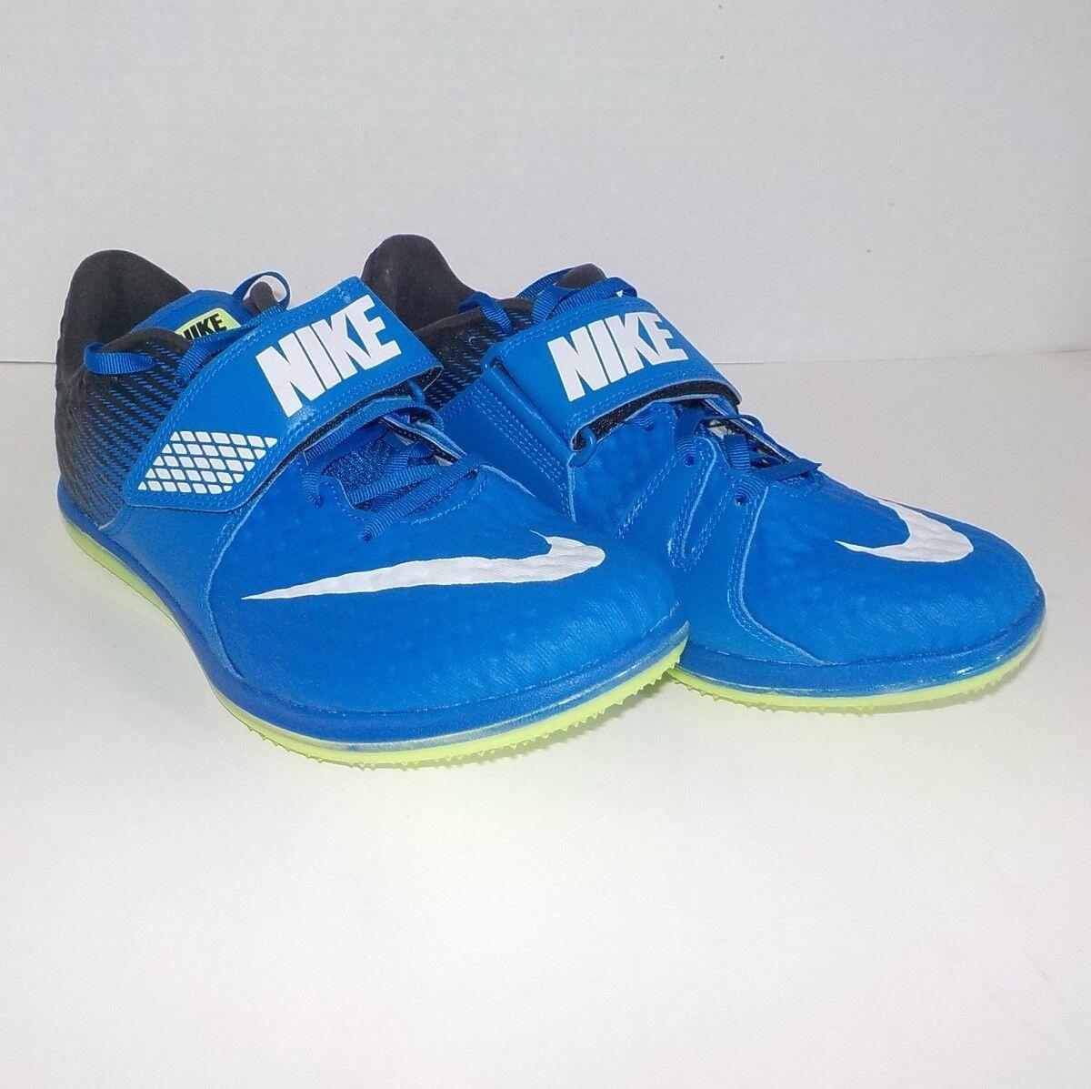 Nike HIGH JUMP ELITE HJ Track Field BLUE BLACK +Spikes 806561 413 SIZE 10 +Spikes BLACK & SRT 91d7f3